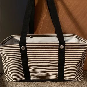 Thirty one large utility tote-Stripes